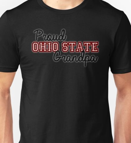 Proud Ohio State Grandpa for darker background Unisex T-Shirt