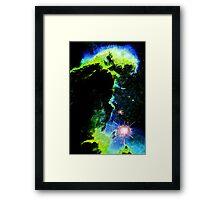 Erupts the Green Monster Framed Print