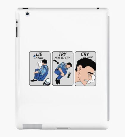 lie down iPad Case/Skin