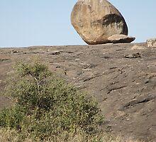 Balance. Rock Formations. Kopjes, Tanzania by Carole-Anne