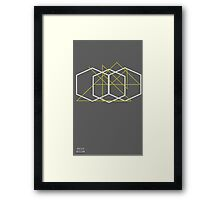 Hexagons and Triangles Framed Print
