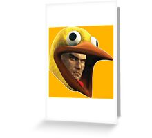 Hitman Chicken suit disguise Greeting Card