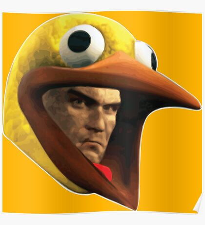 Hitman Chicken suit disguise Poster
