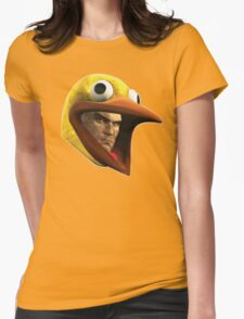 Hitman Chicken suit disguise Womens Fitted T-Shirt