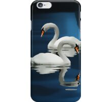 swans on the weir  iPhone Case/Skin