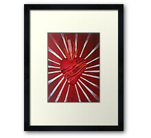 Bacon Wrapped Heart Framed Print