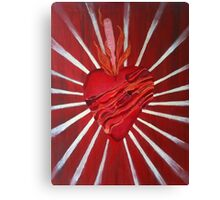 Bacon Wrapped Heart Canvas Print