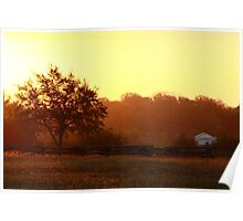 Sunrise in Independance Texas Poster