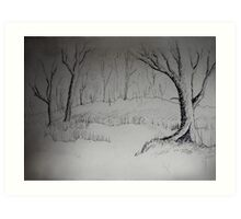 THE DAY RECEDES - a forest meander Art Print