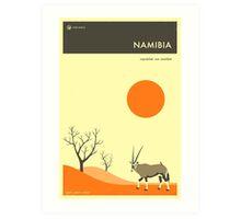 VISIT NAMIBIA Art Print