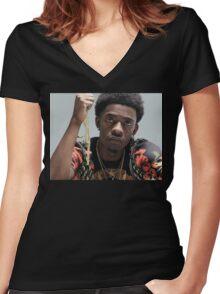 Rich Homie Quan Women's Fitted V-Neck T-Shirt