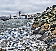 Rough water by Golden Gate Bridge, SF,CA by vincefoto