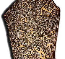 Hand Made Glyph Tablet 2 (View Large) by ☼Laughing Bones☾