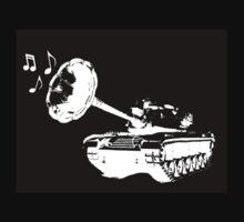 Make Music Not War (BLK) One Piece - Short Sleeve