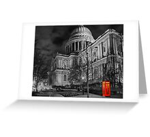 A Touch Of Red - HDR Greeting Card