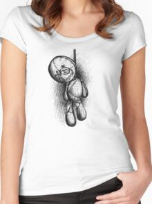 Hanging doll Women's Fitted Scoop T-Shirt