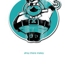 Captain Grumpy Pants Greeting Card by Jane Connory