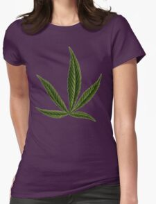 Cannabis #8 Womens Fitted T-Shirt