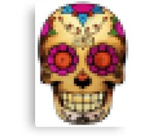 day of the dead - pixel edition Canvas Print