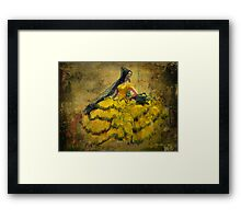 The dancer - Lost in the past Framed Print