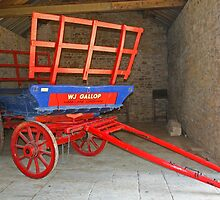 Wagon In Barn by RedHillDigital