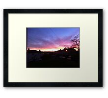 a suburban even Framed Print