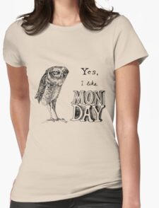 Sarcastic owl Womens Fitted T-Shirt