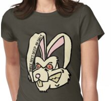 Three Feet Rabbit Womens Fitted T-Shirt