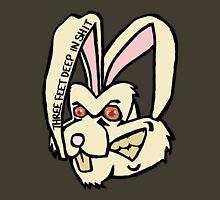 Three Feet Rabbit Womens Fitted T-Shirt