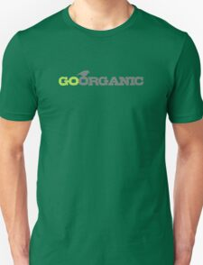 Go Organic Typography In Grey And Green Unisex T-Shirt