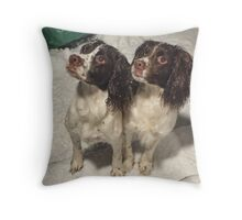 Snowy Sisters Throw Pillow
