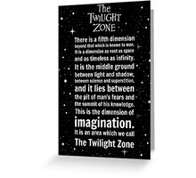 The Twilight Zone Intro Greeting Card