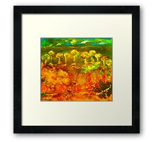 The richness of the Australian landscape (silk paint, raw silk and gutta on silk) Framed Print