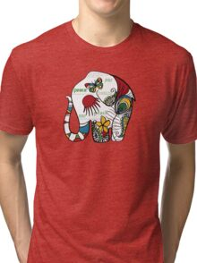 Peace Elephant Tri-blend T-Shirt