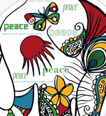 Peace Elephant Sticker