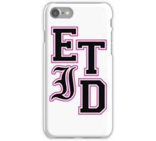 Every Time I Die - Varsity Letters (Black in Pink) iPhone Case/Skin