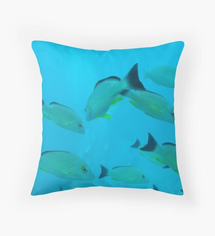 Under the sea in Fish Eye Throw Pillow