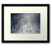 ...wire storm... Framed Print