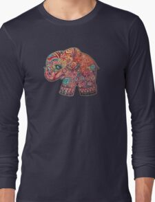 Vintage Elephant TShirt Long Sleeve T-Shirt