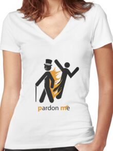 ...whilst I burst (into flames) Women's Fitted V-Neck T-Shirt