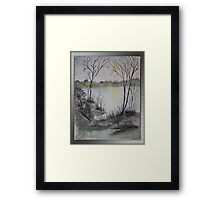 THERE'S MANY A WATER GREAT OR SMALL Framed Print