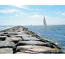 Sailing Barnegat Inlet Photographic Print