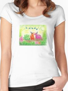 Dino Party Women's Fitted Scoop T-Shirt
