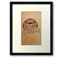 Pirates of the Caribbean Medallion 2 Framed Print