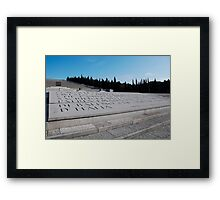 Military Cemetery in Italy Framed Print