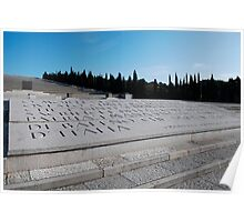 Military Cemetery in Italy Poster