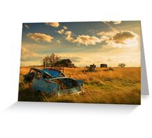 Old Fords & Farms-HDR Greeting Card