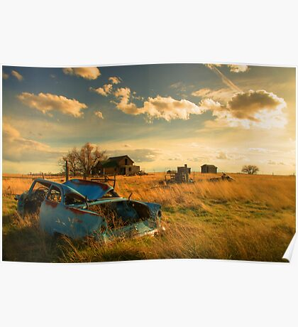 Old Fords & Farms-HDR Poster