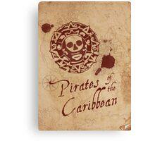 Pirates of the Caribbean Medallion Canvas Print