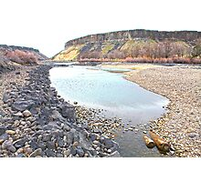 Low River Below the Cliffs Photographic Print